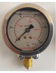 Манометр глицериновый Hansa Flex GMM 80-250 H фото