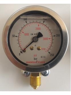Манометр глицериновый Hansa Flex GMM 80-250 H